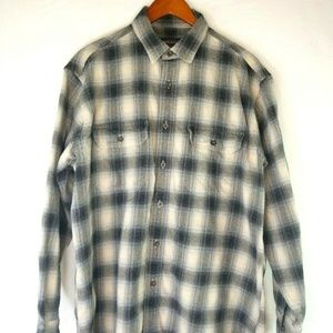 Woolrich Mens Large L/S Button Down Plaid Flannel